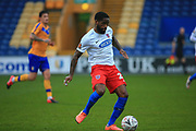 Abu Ogogo (22) of Dagenham & Redbridge  during the The FA Cup match between Mansfield Town and Dagenham and Redbridge at the One Call Stadium, Mansfield, England on 29 November 2020.