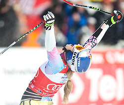 12.03.2010, Kandahar Strecke Damen, Garmisch Partenkirchen, GER, FIS Worldcup Alpin Ski, Garmisch, Lady SuperG, im Bild die Gewinnerin des Gesamtweltcup und des Riesenslalom und SuperG Weltcup 2009 2010 Vonn Lindsey, ( USA ), Ski Head, jubelt, EXPA Pictures © 2010, PhotoCredit: EXPA/ J. Groder / SPORTIDA PHOTO AGENCY