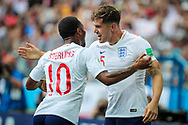 John Stones of England celebrates after his goal with Raheem Sterling during the 2018 FIFA World Cup Russia, Group G football match between England and Panama on June 24, 2018 at Nizhny Novgorod Stadium in Nizhny Novgorod, Russia - Photo Thiago Bernardes / FramePhoto / ProSportsImages / DPPI