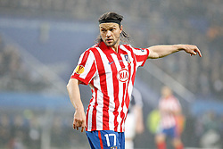 12.05.2010, Hamburg Arena, Hamburg, GER, UEFA Europa League Finale, Atletico Madrid vs Fulham FC im Bild.Atletico de Madrid's Tomas Ujfalusi . EXPA Pictures © 2010, PhotoCredit: EXPA/ nph/  Alvaro Hernandez / SPORTIDA PHOTO AGENCY