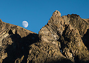 Sierra moonrise over Hoover Wilderness of Humboldt-Toiyabe National Forest, Eastern Sierra Nevada, Mono County, California, USA.