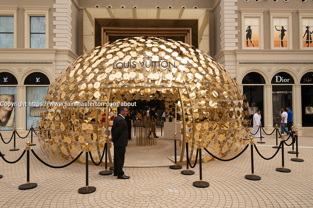 Louis Vuitton ornate display at  The Avenues shopping mall in Kuwait City, Kuwait.