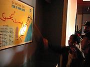 Vietnam, DMZ: plan of tunnel area inside the museum..