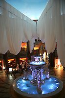 """Venus Fort is an Odaiba shopping mall built to look like a town """"in 18th century Italy"""" according to its creators. With more than one hundred boutiques, shops, cafes and restaurants targeting a mainly female audience the ceiling lights are set to """"dusk"""" most of the day."""