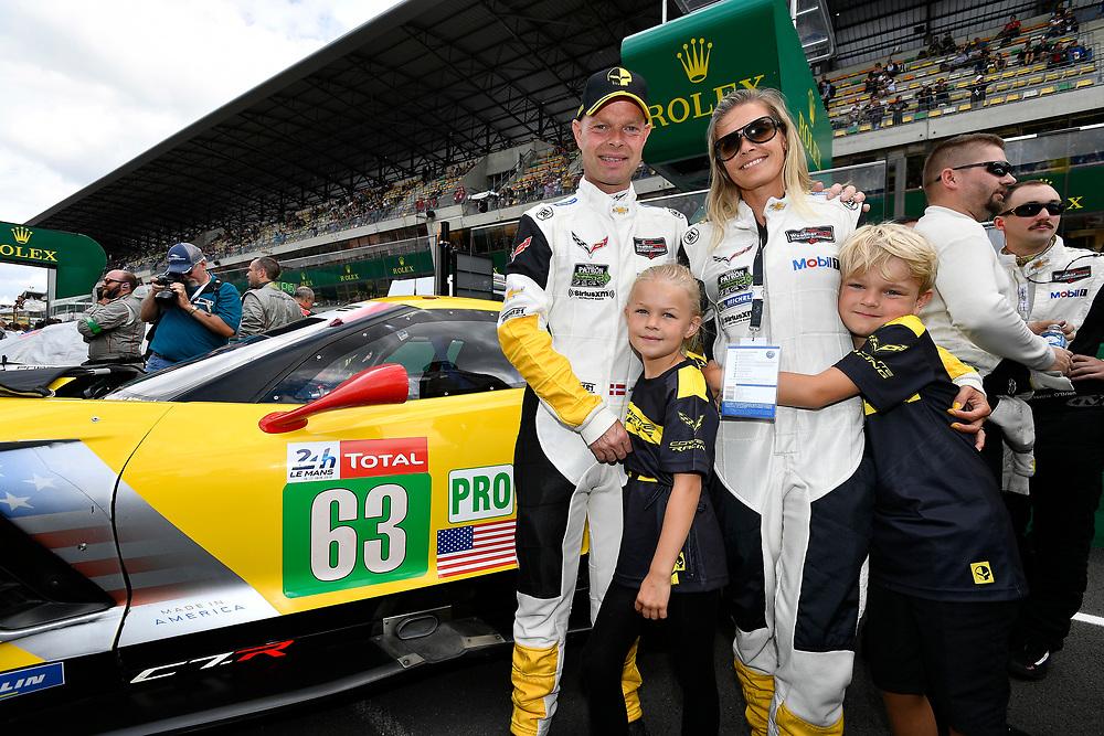#63 Corvette Racing Chevrolet Corvette C7.R: Jan Magnussen, pre-race, grid walk<br /> Saturday 16 June 2018<br /> 24 Hours of Le Mans<br /> 2018 24 Hours of Le Mans<br /> Circuit de la Sarthe  FR<br /> World Copyright: Scott R LePage
