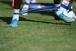 Players stretch to warm up  - Photo mandatory by-line: Joe Meredith/JMP - Mobile: 07966 386802 - 16/07/2015 - SPORT - Football - Albufeira -  - Pre-Season Training