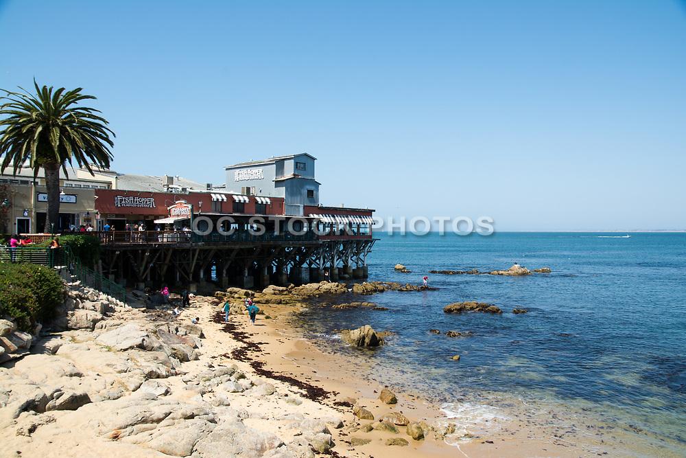 The Fish Hopper Restaurant Overlooking The Ocean On The Coast in Monterey California
