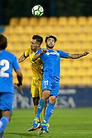 Getafe CF's Chuli (r) and AD Alcorcon's Esteban Burgos during friendly match. August 9,2017. (ALTERPHOTOS/Acero)