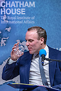 November 28, 2019, London, England, GBR: British Foreign Secretary Dominic Raab during a debate about Foreign Affairs at the Royal Institute of International Affairs London, Thursday, Nov. 28, 2019. (Credit Image: © Vedat Xhymshiti/ZUMA Wire)