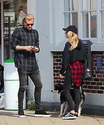 Liverpool goalkeeper Loris Karius is seen out and about in Hale Village on Monday morning