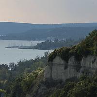 Port Balatonkenese on the shore of Lake Balaton is seen from a watchpoint at Balatonakarattya (about 90 km South-West of capital city Budapest), Hungary on July 14, 2018. ATTILA VOLGYI