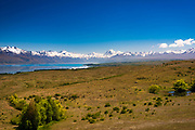 The Mount Cook and Southern Alps from Lake Pukaki, Canterbury, South Island, New Zealand