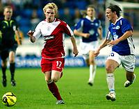 Fotball<br /> UEFA-cup 2006 <br /> 14.09.2006<br /> Molde v  Rangers FC 0-0<br /> Foto: Richard Brevik - Digitalsport<br /> <br /> Stian ohr - MFk<br /> Chris burke - rangers