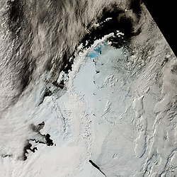 Oct 8, 2016 - Antarctica - The shape of the world is hanging by a thread or rather, according to experts, by a 110 mile-long (177km) rift. That's the extent of a rapidly expanding crack in an enormous ice shelf in Antarctica. When the Larsen C shelf finally splits, the largest iceberg ever recorded (bigger than the US state of Rhode Island and a third the size of Wales) will snap off into the ocean. Widening each day by 3 ft (1 m), the groaning cleft is on the verge of dramatically redrawing the southern-most cartography of our planet and is likely to lead, climatologists predict, to an acceleration in the rise of sea levels globally. (Credit Image: © NASA via ZUMA Wire/ZUMAPRESS.com)