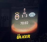 INNGÅR IKKE I FASTAVTALER. ALL NEDLASTING BLIR FAKTURERT<br /> <br /> Fotball<br /> 17.09.2015<br /> Foto: imago/Digitalsport<br /> NORWAY ONLY<br /> <br /> UEFA Europa League Group A soccer match between Fenerbahce and Molde FK at Sukru Saracoglu Stadium in Istanbul, Turkey, 17 September 2015. Pictured: Scoreboard