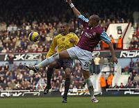 Photo: Olly Greenwood.<br />West Ham United v Arsenal. The Barclays Premiership. 05/11/2006. West Ham's Bobby Zamora gets ahead of Arsenal's Gilberto