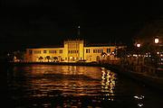 San Juan, Puerto Rico, at night the Custom House