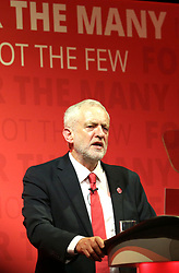 Labour Party leader Jeremy Corbyn at a General Election rally at the Old Fruitmarket, Candleriggs, Glasgow.