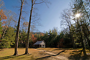 Timber building in nature of Great Smokey Nationalpark. Tennessee. United States of America.