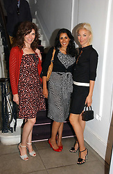 Left to right, JESSICA MORRIS, SERENA REES and TAMARA BECKWITH at the Peta (People for the Ethical Treatment of Animals) Humanitarian Awards held at Stella McCartney, 30 Bruton Street, London W1 on 28th June 2006.<br />