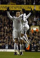 Photo: Olly Greenwood.<br />Tottenham Hotspur v Dinamo Bucuresti. UEFA Cup. 14/12/2006. Spurs Dimitar Berbatov celebrates scores
