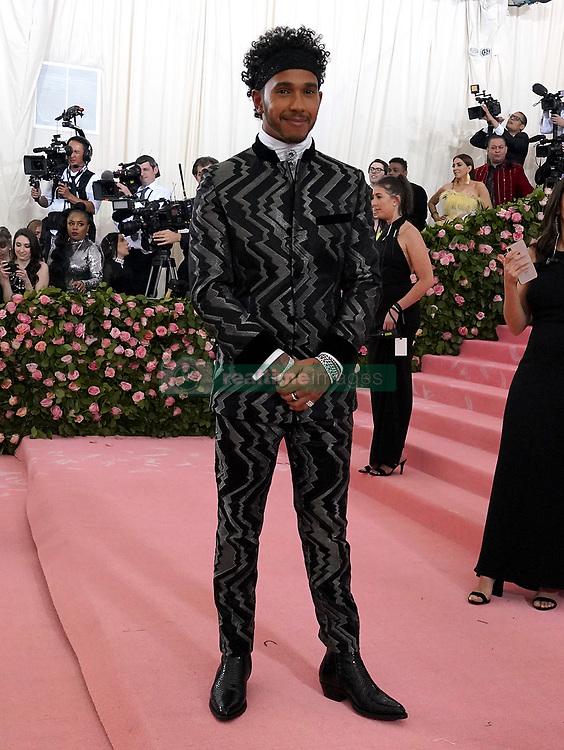 Lewis Hamilton attending the Metropolitan Museum of Art Costume Institute Benefit Gala 2019 in New York, USA.