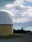View of the Mt. John Observatory, near Lake Tekapo, New Zealand.
