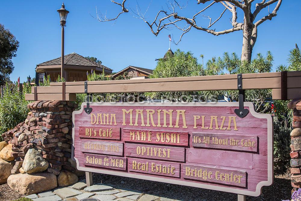 Dana Marina Plaza on the Corner of Dana Point Harbor Drive and Golden Lantern Street