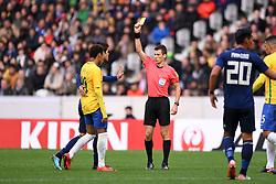November 10, 2017 - Villeneuve D Ascq, France - 10 Neymar Jr (bra) - 19 Hiroki Sakai (jpn) - BENOIT BASTIEN (ARBITRE) - CARTON JAUNE (Credit Image: © Panoramic via ZUMA Press)