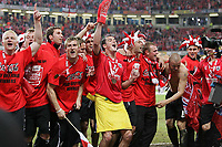 Photo: Lee Earle.<br /> Barnsley v Swansea City. Coca Cola League 1. Play off Final. 27/05/2006. Barnsley celebrate promotion.