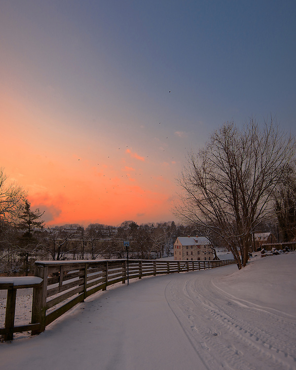 A two shot panorama from the top of Ohio Road in Historic Bethlehem, Pennsylvania