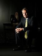 Simon Property CFO Simon Sterrett poses for a portrait in the company's Indianapolis headquarters Wednesday, Jan. 24, 2007.