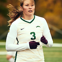 2nd year forward, Meghan McFee (3) during the Women's Soccer home game on Sat Sep 22 at U of R Field. Credit: Arthur Ward/Arthur Images