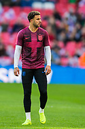 Kyle Walker (England) warming up ahead of the UEFA Nations League match between England and Croatia at Wembley Stadium, London, England on 18 November 2018.