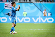 Philippe Coutinho of Brazil celebrates after the 1-0 goal during the 2018 FIFA World Cup Russia, Group E football match between Brazil and Costa Rica on June 22, 2018 at Saint Petersburg Stadium in Saint Petersburg, Russia - Photo Thiago Bernardes / FramePhoto / ProSportsImages / DPPI