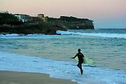 Bronte Beach catching the surf, Sydney, Australia.