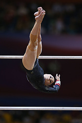 November 2, 2018 - Doha, QATAR - 181102 Jonna Adlerteg of Sweden in action during the finals of the WomenÂ«s Uneven Bars competition in the Artistic Gymnastics World Championships on November 2, 2018 in Doha  (Credit Image: © Thomas Schreyer/Bildbyran via ZUMA Press)