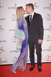 Paris Hilton and Chris Zylka attending the DeGrisogono party during the 71st Cannes Film Festival in Antibes, France, on May 15, 2018. Photo by Julien Reynaud/APS-Medias/ABACAPRESS.COM