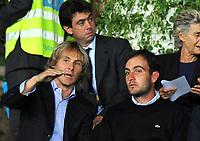Il Presidente Andrea Agnelli (Juventus), Pavel Nedved e il golfista Edoardo Molinari<br /> Juventus Palermo - Campionato di Calcio Serie A Tim 2010-2011<br /> Stadio OIimpico, Torino, 23/09/2010<br /> © Giorgio Perottino / Insidefoto