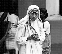 Mother Teresa of Calcutta seen at her Calcutta Mission in India 1969. Photographed by Terry Fincher