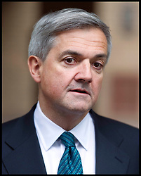 Former energy secretary Chris Huhne gives a statement outside Southwark Crown Court after he pleads Guilty in the Trial with his ex-wife Vicky Pryce over speeding penalty. The former couple are both accused of perverting the course of justice. It is alleged that Huhne persuaded Pryce to take his penalty points for a speeding offence in 2003, Southwark Crown Court, London, Monday February 4, 2013. Photo: Andrew Parsons / i-Images