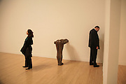 Ian Ferguson on phone near Gormley sculpture, Turner Prize: A Retrospective. Opening party. Tate Millbank. London. 2 October 2007. -DO NOT ARCHIVE-© Copyright Photograph by Dafydd Jones. 248 Clapham Rd. London SW9 0PZ. Tel 0207 820 0771. www.dafjones.com.