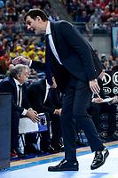 FCB Lassa's coach Georgios Bartzokas during Quarter Finals match of 2017 King's Cup at Fernando Buesa Arena in Vitoria, Spain. February 17, 2017. (ALTERPHOTOS/BorjaB.Hojas)