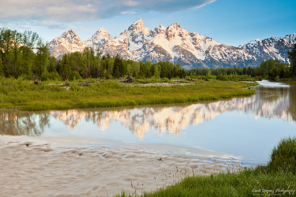 Early morning light at Schwabacher's Landing, a series of beaver ponds along the Snake River in Grand Teton National Park.