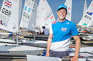 Team GBR Olympic sailor Nick Thompson pictured on day one of the ISAF Sailing World Cup at the Weymouth and Portland National Sailing Academy, Weymouth. Thompson sails in the Laser class. PRESS ASSOCIATION Photo. Picture date: Wednesday June 8, 2016. See PA story SAILING World Cup. Photo credit should read: Chris Ison/PA Wire.