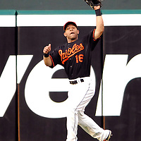 08 June 2007:  Baltimore Orioles center fielder Jay Payton (16) makes a catch on a deep fly ball in the 1st inning hit by Colorado Rockies left fielder Matt Holliday.  The Orioles defeated the Rockies 4-2 in interleague play at Camden Yards in Baltimore, MD.   ****For Editorial Use Only****