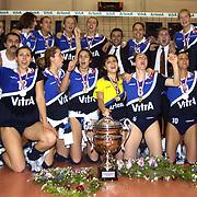 Turkish Woman Volleyball Play Off Final Turkish Woman Volleyball Champion team Eczacibasi during their Eczacibasi Sport Centrum in ISTANBUL at TURKEY.  <br /> 29.04.2002 Photo by AYKUT AKICI/TurkSporFoto