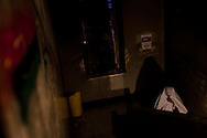 A woman walks through the a justice building taken over by the protesters in Benghazi on March 1, 2011.
