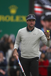 February 3, 2019 - Scottsdale, AZ, U.S. - SCOTTSDALE, AZ - FEBRUARY 03: Bubba Watson acknowledges the fans on the ninth hole after making his putt during the final round of the Waste Management Phoenix Open on February 3, 2019, at TPC Scottsdale in Scottsdale, Arizona.  (Photo by Will Powers/Icon Sportswire) (Credit Image: © Will Powers/Icon SMI via ZUMA Press)