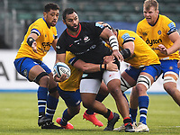 iRugby Union - 2019 / 2020 Gallagher Premiership - Round 22 - Saracens vs Bath - Allianz Park<br /> <br /> Saracens' Billy Vunipola in action during this afternoon's game.<br /> <br /> COLORSPORT/ASHLEY WESTERN